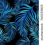 exotic tropical vrctor... | Shutterstock .eps vector #763255825