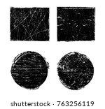 grunge post stamps.vector... | Shutterstock .eps vector #763256119