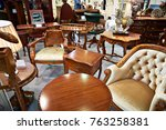 antique furniture store with... | Shutterstock . vector #763258381