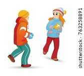 kids  children  friends  boy... | Shutterstock .eps vector #763258891