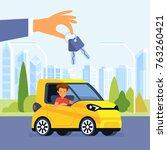 car rent vector illustration....