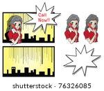 comic call center girl | Shutterstock . vector #76326085