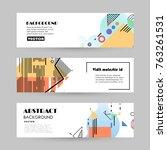vector design banner templates | Shutterstock .eps vector #763261531