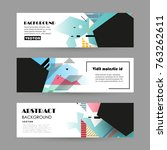 vector design banner templates | Shutterstock .eps vector #763262611