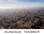 smog and air pollution in... | Shutterstock . vector #763268029