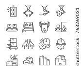industrial process icon set.... | Shutterstock .eps vector #763269031