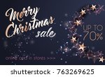 christmas background with... | Shutterstock .eps vector #763269625