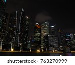 downtown core  singapore  ... | Shutterstock . vector #763270999