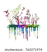 music colorful design with... | Shutterstock .eps vector #763271974