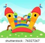 jumping castle | Shutterstock .eps vector #76327267
