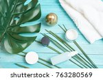 cream for face spa             ... | Shutterstock . vector #763280569