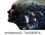 ai  artificial intelligence ... | Shutterstock . vector #763283074