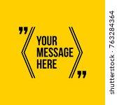 innovative vector quotation... | Shutterstock .eps vector #763284364