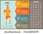 sports infographic options... | Shutterstock .eps vector #763285459