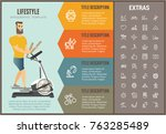lifestyle infographic options... | Shutterstock .eps vector #763285489