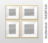 set of realistic square and... | Shutterstock .eps vector #763287124