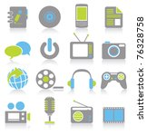 multimedia icons | Shutterstock .eps vector #76328758