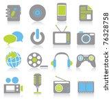 multimedia icons | Shutterstock .eps vector #76328758
