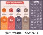 human resource infographic...   Shutterstock .eps vector #763287634