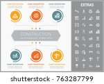 construction infographic... | Shutterstock .eps vector #763287799