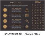 real estate infographic... | Shutterstock .eps vector #763287817