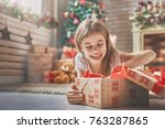 happy holidays  cute little... | Shutterstock . vector #763287865