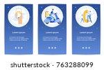 e shopping set of mobile apps... | Shutterstock .eps vector #763288099
