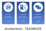 e shopping set of mobile apps... | Shutterstock .eps vector #763288105
