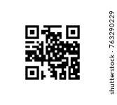 qr code icon. simple code for... | Shutterstock .eps vector #763290229
