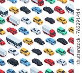 urban cars seamless texture.... | Shutterstock .eps vector #763291414