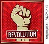 revolution fight vector poster... | Shutterstock .eps vector #763291441