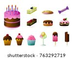 colored design  vector sweet... | Shutterstock .eps vector #763292719