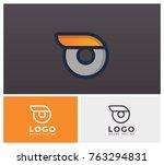 o typo letter alphabet minimal... | Shutterstock .eps vector #763294831