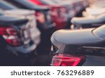 brand new vehicles in stock on... | Shutterstock . vector #763296889