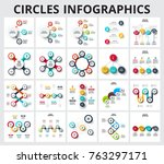 abstract infographics number... | Shutterstock .eps vector #763297171