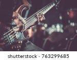 passionate guitarist music... | Shutterstock . vector #763299685
