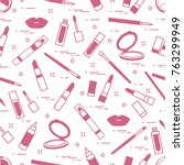 seamless pattern of different... | Shutterstock .eps vector #763299949