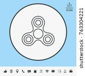 tri spinner icon | Shutterstock .eps vector #763304221