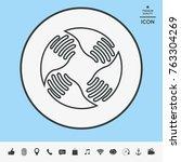 teamwork hands logo. human... | Shutterstock .eps vector #763304269
