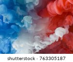 blue  white and red paint in... | Shutterstock . vector #763305187