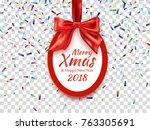 merry christmas and happy new... | Shutterstock .eps vector #763305691
