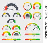 credit score indicators with... | Shutterstock .eps vector #763314001