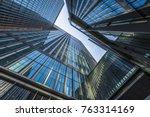 bottom view of modern... | Shutterstock . vector #763314169