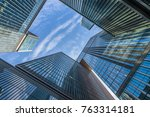 bottom view of modern... | Shutterstock . vector #763314181