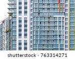 facade of a modern glass... | Shutterstock . vector #763314271
