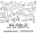 set of data illustration hand... | Shutterstock .eps vector #763314739