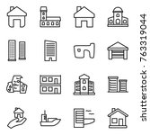 thin line icon set   home ...   Shutterstock .eps vector #763319044