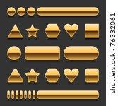 gold blank web 2.0 geometric... | Shutterstock .eps vector #76332061