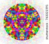circular geometrical triangle...   Shutterstock .eps vector #763321591