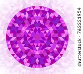 round abstract geometrical...   Shutterstock .eps vector #763321954